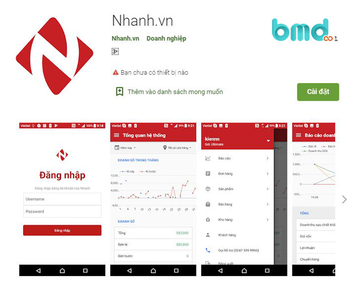 Ứng dụng Nhanh.vn