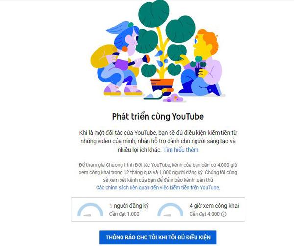 Bật kiếm tiền - Cách kiếm tiền trên youtube