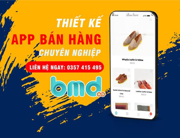 BMD làm ứng dụng bán hàng