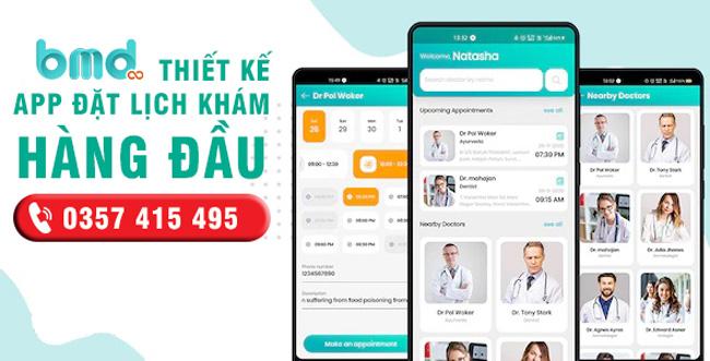 BMD thiết kế app đặt lịch khám bệnh
