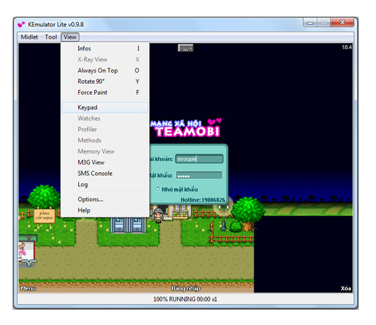 Phần mềm giả lập java Kemulator