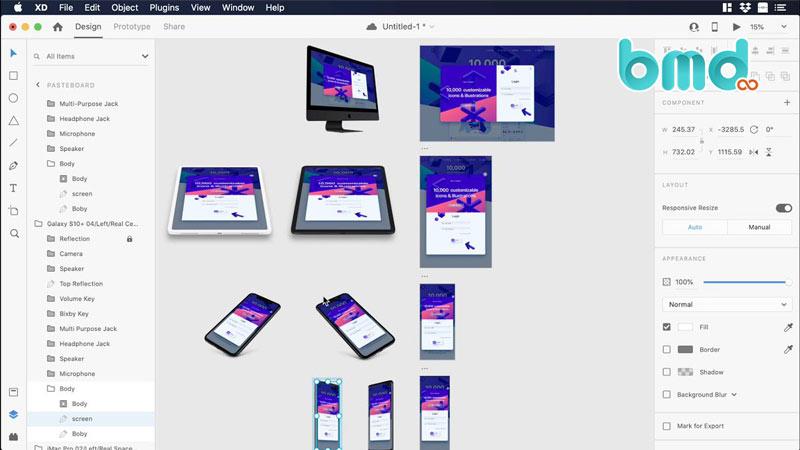 Phần mềm thiết kế ui Adobe XD
