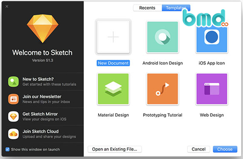 Phần mềm thiết kế UI Sketch
