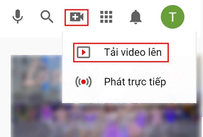 Đăng video lên kênh đã tạo