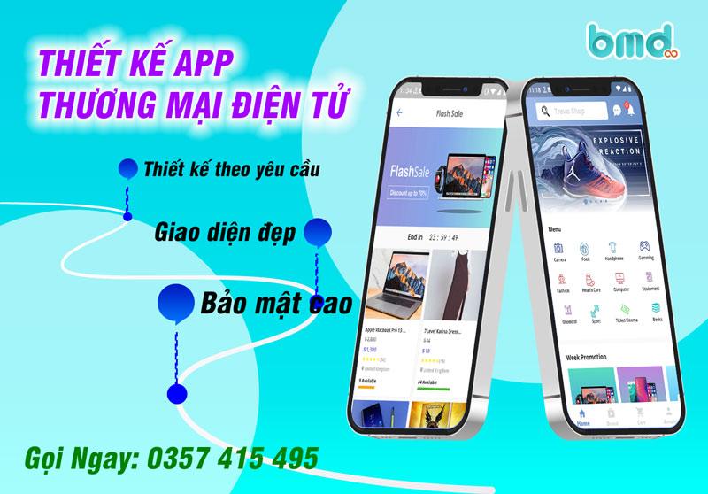 BMD thiết kế app thương mại điện tử
