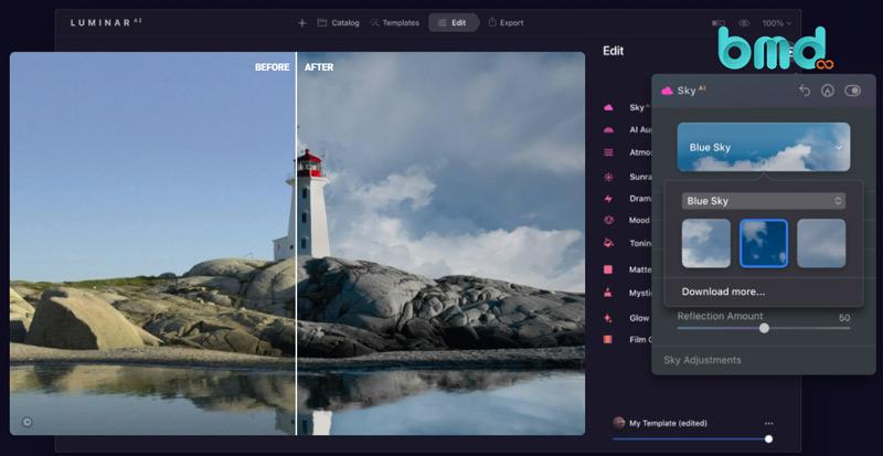 Phần mềm sửa ảnh Luminar AI