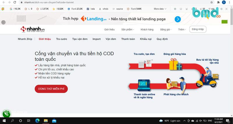 Phần mềm quản lý giao hàng nhanh.vn