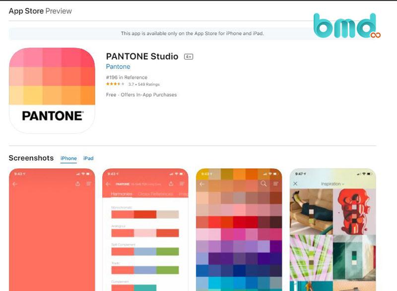 Phần mềm thiết kế nhà trên điện thoại 3D Pantone