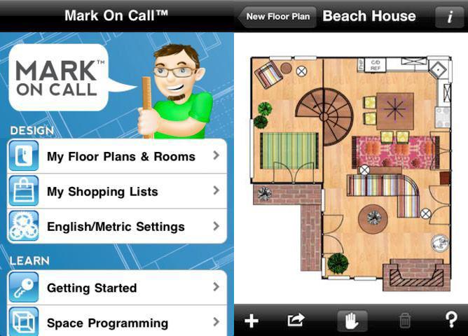 Phần mềm thiết kế nhà trên điện thoại Mark On Call