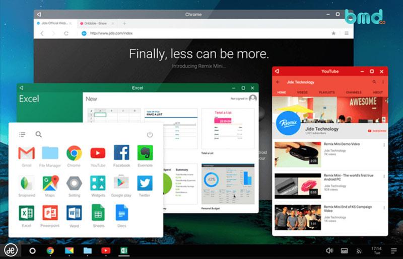 Trình giả lập android Remix OS