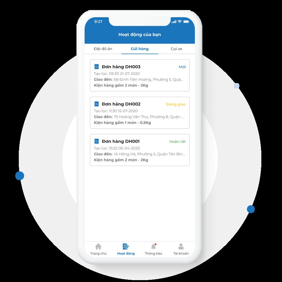 App dành cho admin