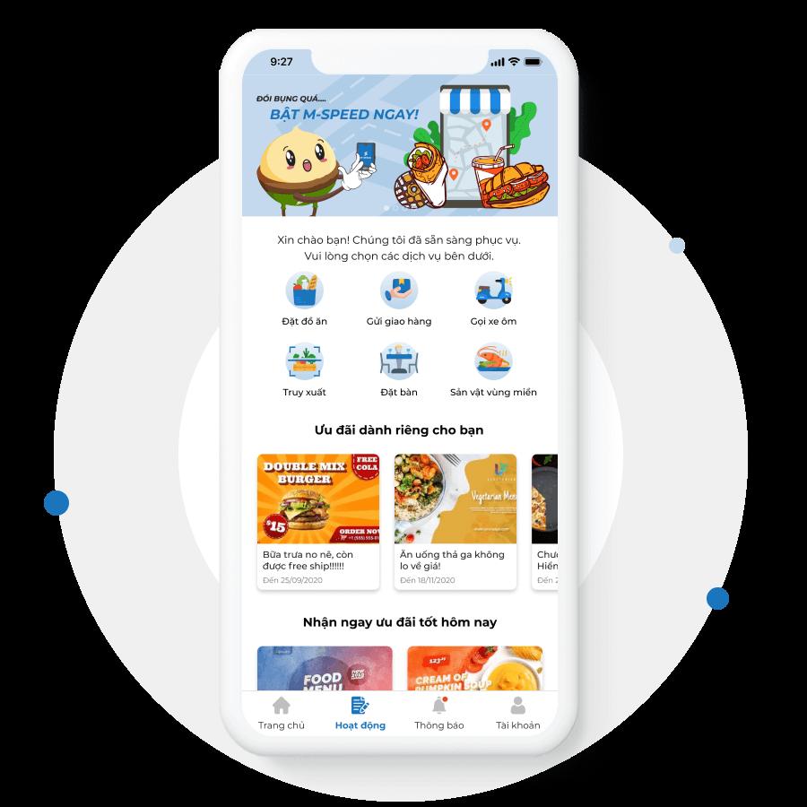 App giao đồ ăn dành cho người dùng