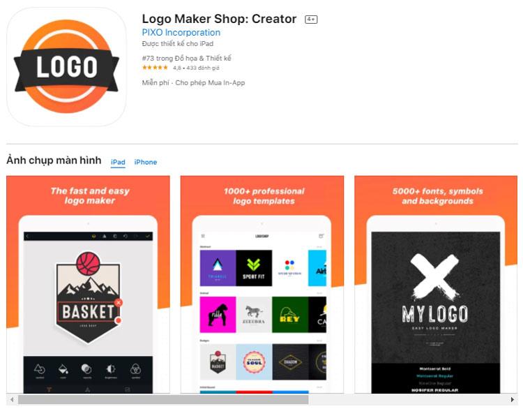 App thiết kế logo - Logo maker shop