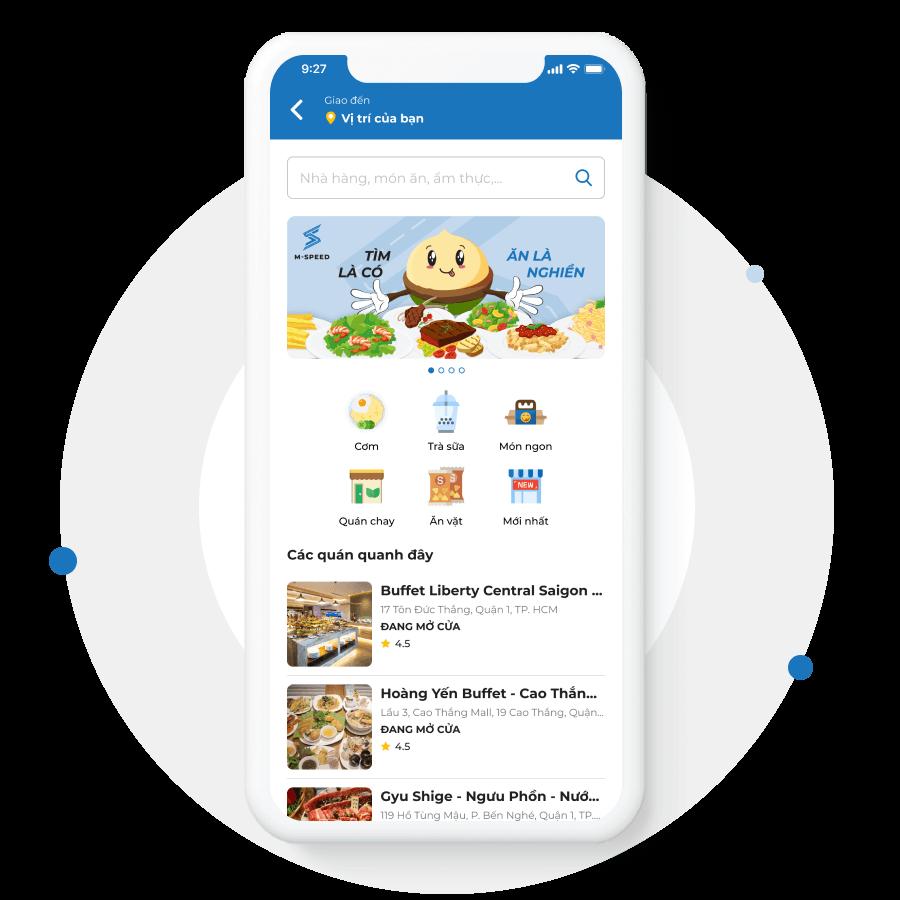 BMD Phát triển ứng dụng giao đồ ăn
