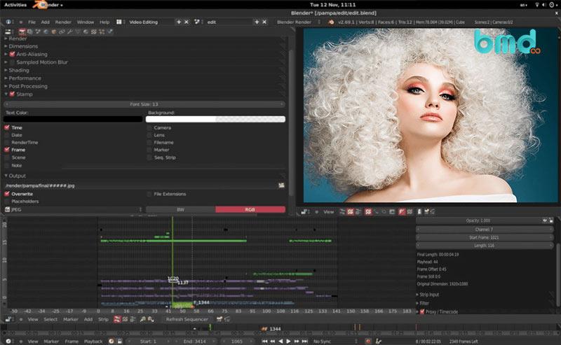 Phần mềm chỉnh sửa video trên máy tính Blender