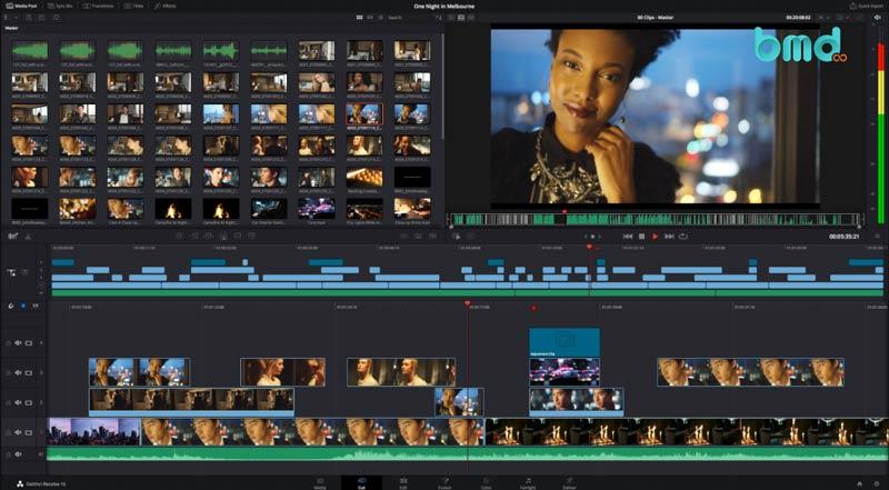 Phần mềm chỉnh sửa video miễn phí: DaVinci Resolve