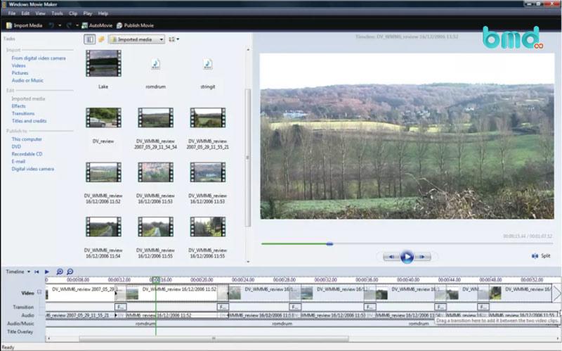 Phần mềm cắt ghép video Movie Maker