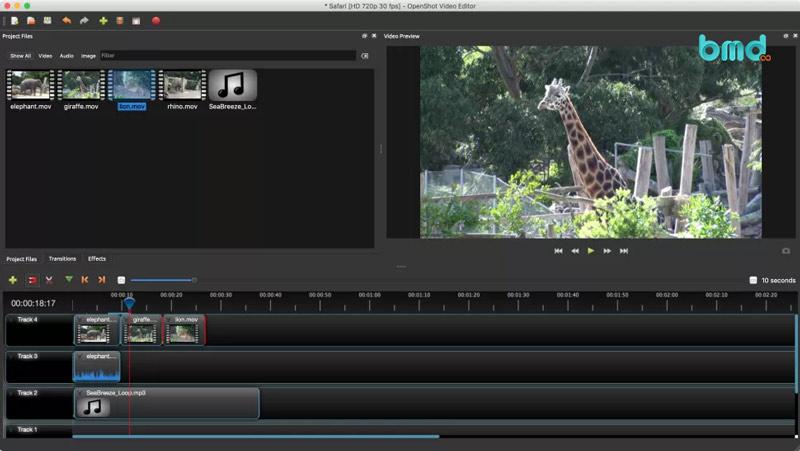 Phần mềm chỉnh sửa video miễn phí: OpenShot