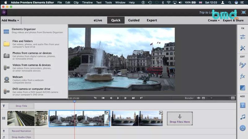 Phần mềm edit video Premiere Element 15