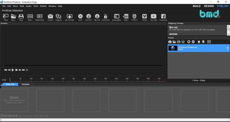 Phần mềm chỉnh sửa video miễn phí Proshow Producer