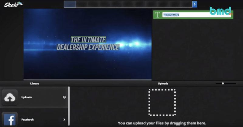 Phần mềm chỉnh sửa video miễn phí Shakr