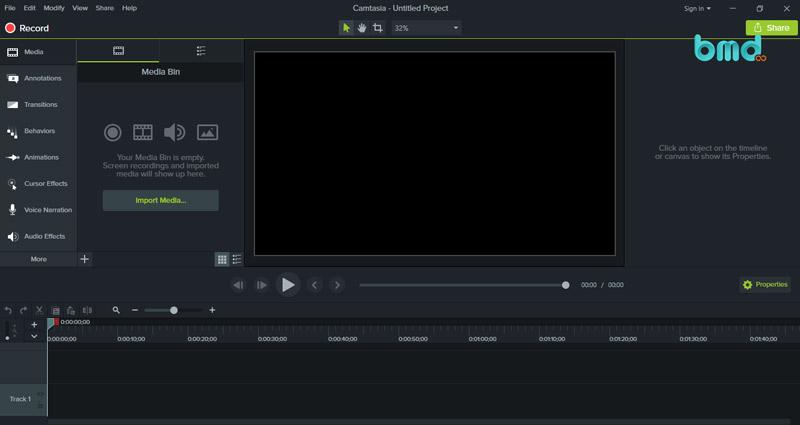 Phần mềm chỉnh sửa video đơn giản Camtasia