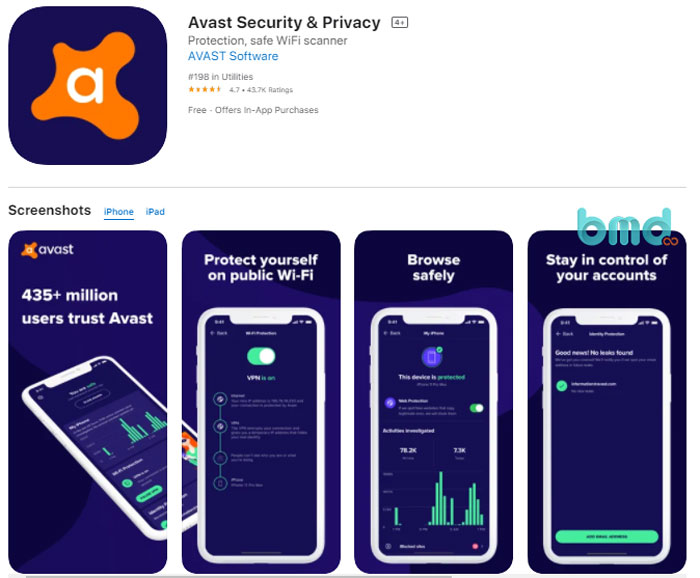 Phần mềm diệt virus Avast Security & Privacy