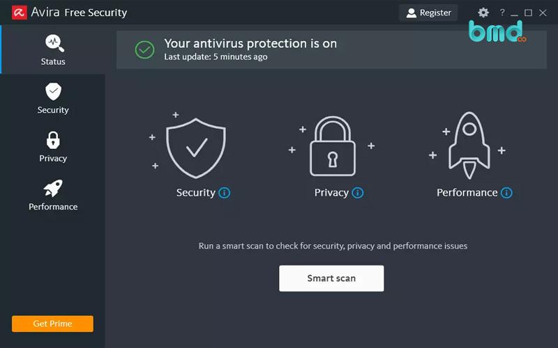 Phần mềm diệt virus miễn phí Avira