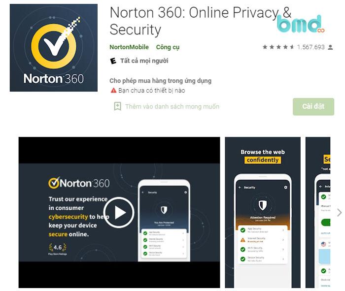 Phần mềm diệt virus miễn phí Norton 360