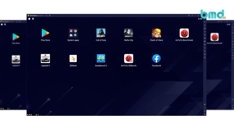 Phần mềm giả lập Android nhẹ BlueStack