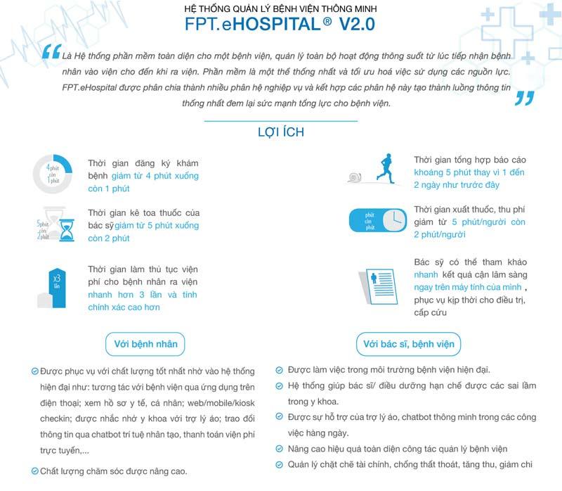 Phần mềm quản lý bệnh viện FPT.eHospital