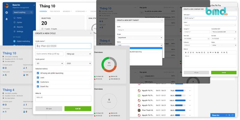Phần mềm quản lý công việc Base Goal