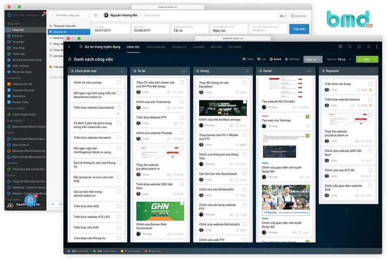 Phần mềm quản lý công việc Base Wework
