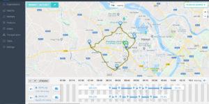 Google map được tích hợp vào ứng dụng giao hàng