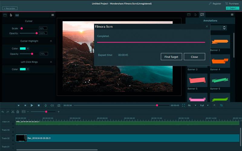 Phần mềm quay phim màn hình Filmora Scrn