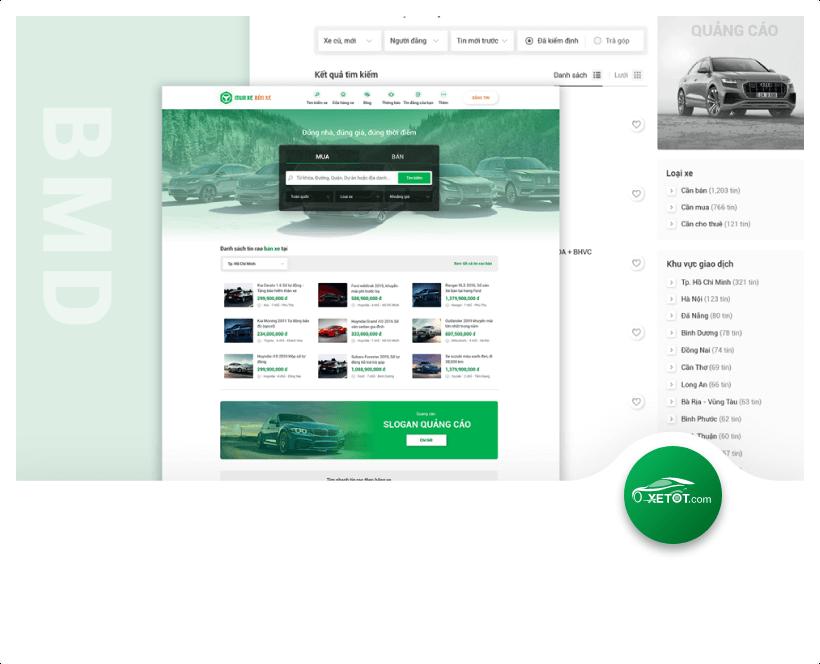 Thiết kế website rao vặt xetot