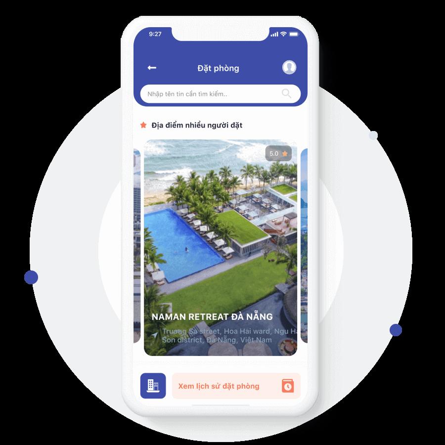 Tiện ích ứng dụng đặt đặt lịch resort hotel