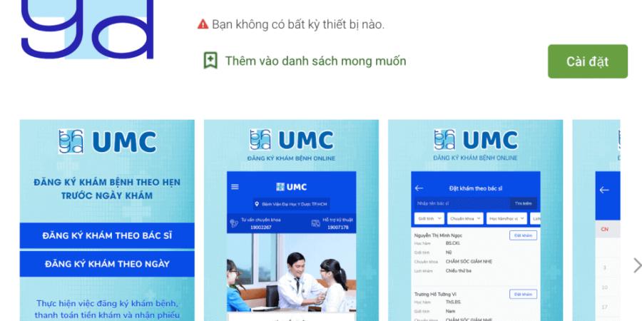 Giới Thiệu Ứng dụng đặt lịch hẹn Bệnh viện đại học y dược TP HCM UMC