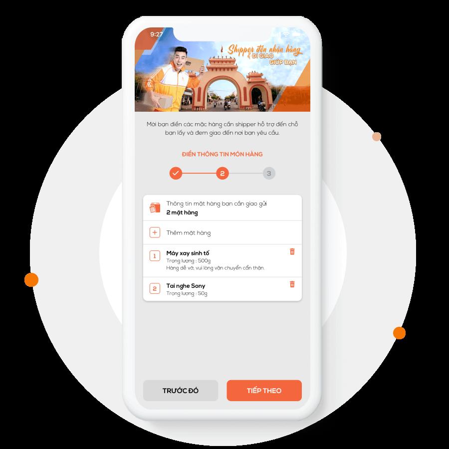 Ứng dụng giao hàng cho người dùng