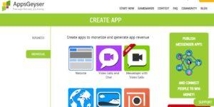 Cách tạo app trên appsgeyser