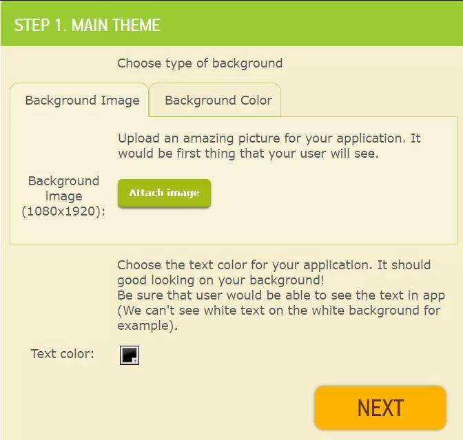 Tùy chỉnh và tải nội dung cho app