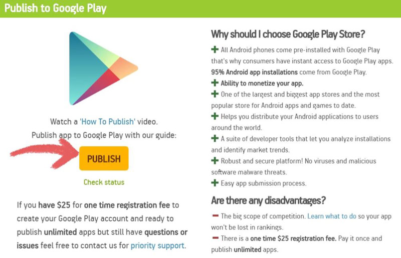 Xuất bản lên Google Play