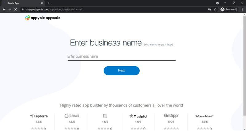 Tạo tên cho ứng dụng