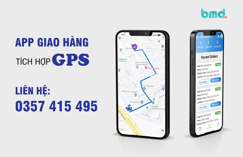App giao hàng tích hợp GPS