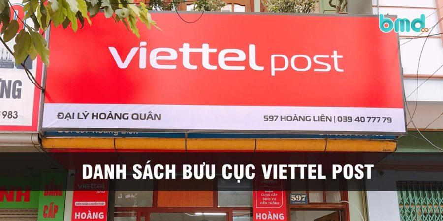 Danh sách bưu cục, chi nhánh Viettel Post 63 tỉnh thành
