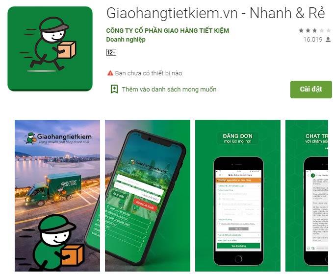 App giao hàng tiết kiệm trên CH Play