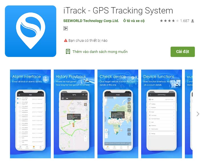 Phần mềm định vị GPSitrack