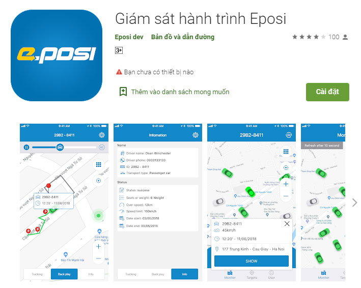 Phần mềm giám sát hành trình Eposi