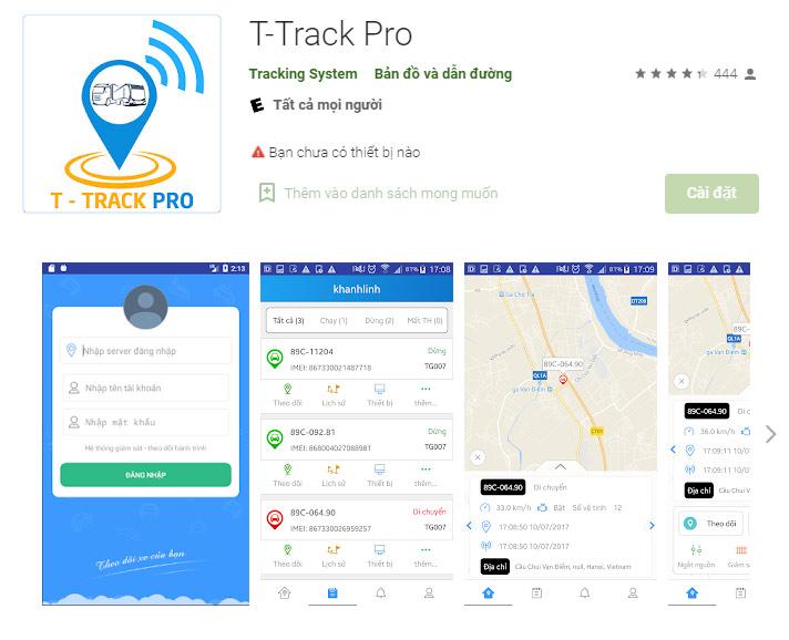 Phần mềm giám sát hành trình T-Track Pro