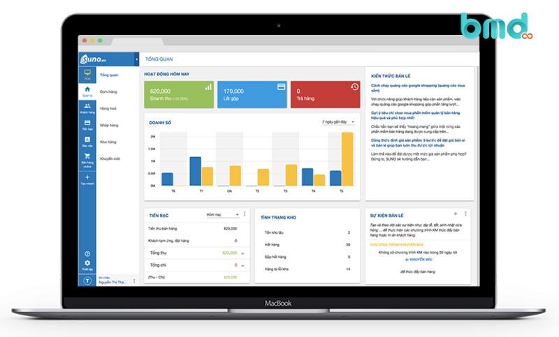 Phần mềm quản lý đơn hàng miễn phí Suno